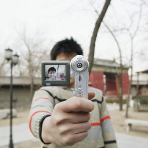 Man Photographing Himself