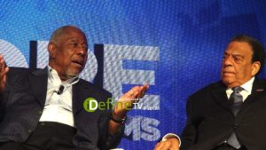 Hank Aaron (MLB Player) & Andrew Young (politician, diplomat, and activist) - HOPE Global Forums in 2017