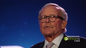 Tom Brokaw television journalist and author - HOPE Global Forums in 2018